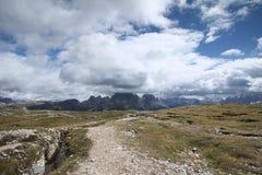 Ландшафт с горой, Италия Стоковое Изображение RF