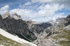 Ландшафт с горой, Италия Стоковые Фотографии RF