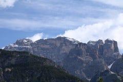 Ландшафт с горой и озером Стоковое Изображение