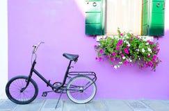 Ландшафт с старым bike Стоковая Фотография RF