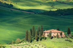 ландшафт Тоскана belvedere Стоковые Фотографии RF