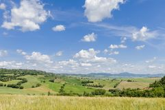 Ландшафт Тосканы, Италия, Европа Стоковые Фотографии RF
