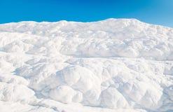 Ландшафт травертина складывает террасы вместе известняка в Pamukkale, Стоковая Фотография RF