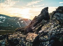 Ландшафт Урала горы ural Ландшафт России Стоковая Фотография
