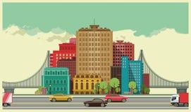 ландшафт урбанский иллюстрация вектора