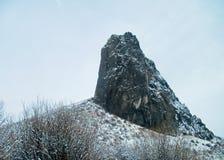 Ландшафт утеса пальца в зиме Стоковое фото RF