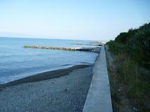 Ландшафт утра пляжа Vardane в Сочи Россия стоковые изображения