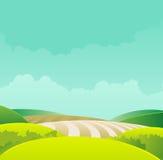 ландшафт хлебоуборки Стоковые Изображения RF