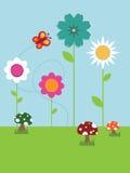 ландшафт цветка бесплатная иллюстрация