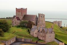 Ландшафт церков замока Dover Стоковое Изображение