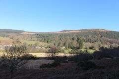Ландшафт через горы Wicklow стоковые фото