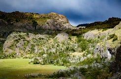 Ландшафт чилийской Патагонии стоковые фотографии rf