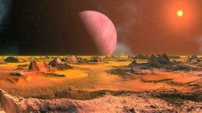 Ландшафт чужеземца в оранжевом свете видеоматериал