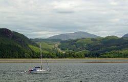 Ландшафт Шотландии, озера стоковые фото