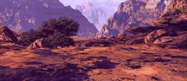ландшафт Юта каньона иллюстрация штока
