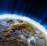 ландшафт 3d европы Стоковая Фотография