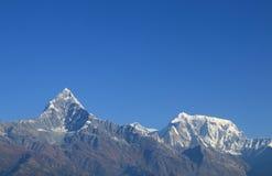 Ландшафт Annapurna Pokhara Непал горы Machhapuchhre Гималаев Стоковая Фотография