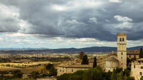 Ландшафт Assisi стоковое фото rf