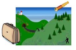 ландшафт backround иллюстрация вектора