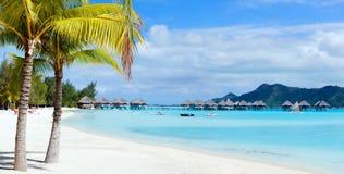Ландшафт Bora Bora стоковые фотографии rf
