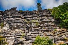 ландшафт brana pravcicka естественный стоковые изображения