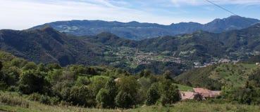 Ландшафт brembana Valle стоковые изображения rf