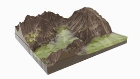 ландшафт 3d Стоковое Изображение