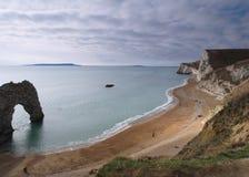 ландшафт dorset пляжа стоковые фото
