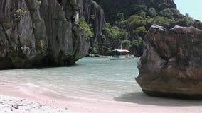 Ландшафт El Nido Остров Palawan philippines видеоматериал