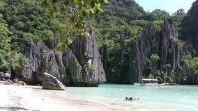 Ландшафт El Nido Остров Palawan philippines акции видеоматериалы