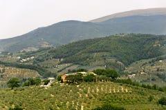 ландшафт foligno около umbria Стоковая Фотография