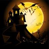 ландшафт halloween Стоковые Изображения