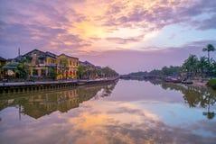 Ландшафт Hoi древний город, Вьетнам Стоковые Фотографии RF