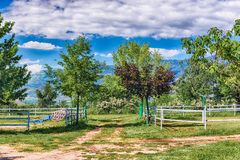 Ландшафт Idillic в сельской местности стоковые изображения rf