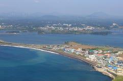 ландшафт jeju острова стоковое фото rf