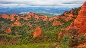 Ландшафт Las Médulas в Испании Стоковая Фотография RF