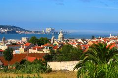 ландшафт lisboa Португалия стоковое изображение