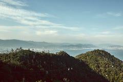 Ландшафт Miyajima, Японии осмотрел сверху стоковые изображения rf