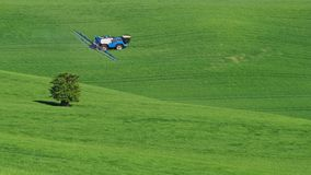Ландшафт Moravian Тосканы, южной Моравии, чехии Стоковое Изображение