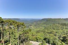 Ландшафт Mountais, Gramado, Бразилия Стоковое Фото