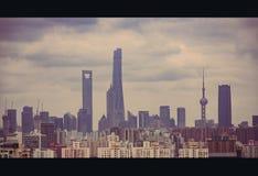 Ландшафт ` s Шанхая стоковые фотографии rf
