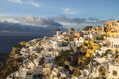 Ландшафт santorini Греции Стоковое Фото