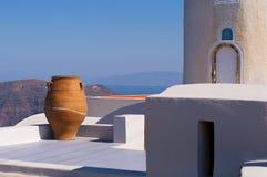 Ландшафт Santorini Стоковые Изображения