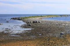 Ландшафт seashore Балтийского моря за Pärnu стоковая фотография