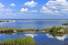 Ландшафт seashore Балтийского моря за Pärnu стоковые фото