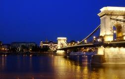 ландшафт sz chenyi budapest моста цепной Стоковая Фотография RF