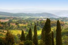 ландшафт tuscan изображения типичный Стоковые Фотографии RF