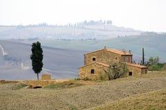 ландшафт tuscan типичный Стоковые Изображения