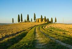 ландшафт tuscan типичный Стоковая Фотография RF