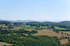 ландшафт umbria Италии amelia Стоковое фото RF
